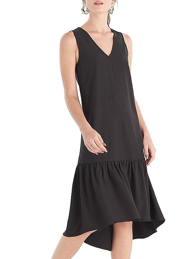 Modest, Mature, Mrs. Vintage Dresses – 20s, 30s, 40s, 50s, 60s Our Heritage - Womens V Neck Sleeveless A-Line Ruffle Hem Tiered Midi Dress $12.99 AT vintagedancer.com