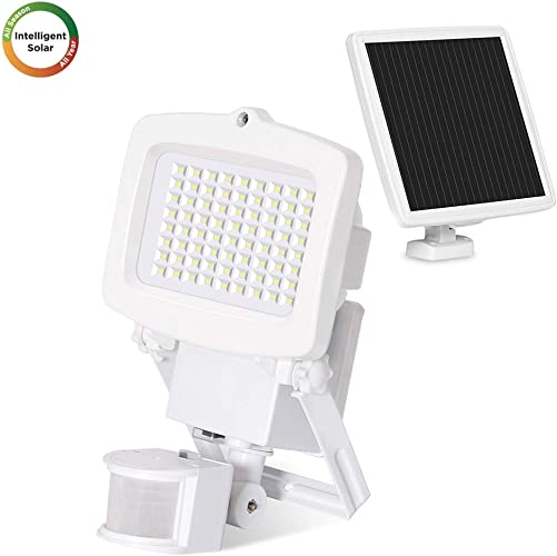 Westinghouse 2000 Lumens Solar Security Flood Lights Solar Motion Sensor Lights Outdoor with 130 Wide Angle Easy-to-Install Weather Resistant LED Solar Lighting for Front Door, Garage, Yard
