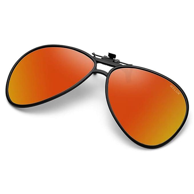 WELUK gafas de sol con clip, Unisex-Clips Gafas de sol ...
