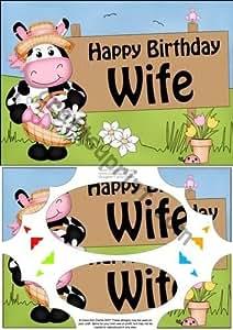 A5 Milly Moo de la vaca de la esposa de cortar esquinas y Pyramage por Carol Clarke