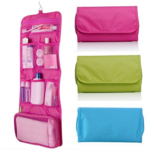 Latiq Mart 5 Pockets Pouch Hanging Handbag Organizer Clear Purse Bag for Living Room Bedroom Cupboards Bathroom Home Use - Multicolor