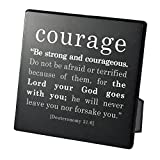 Lighthouse Christian Products Simple Faith Courage Plaque, 3 3/4 x 3 3/4