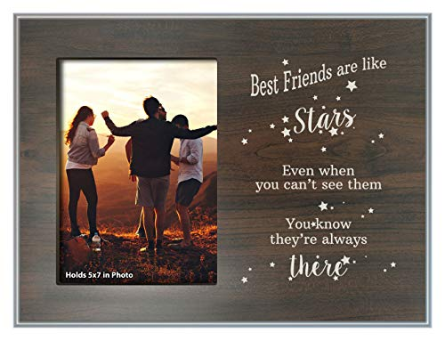 ThisWear Best Friends are Like Stars Best Friend Frame Wood Photo Plaque Picture Frame Wood ()