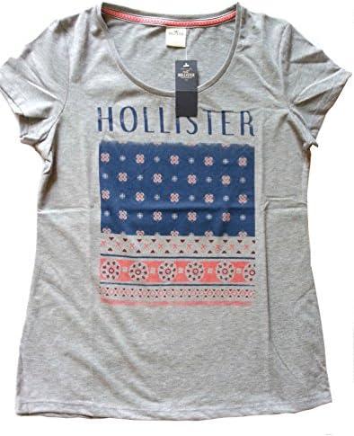 Hollister - Camiseta - Floral - para mujer gris S: Amazon.es: Ropa y accesorios