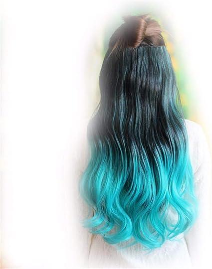 XIAOBAI La peluca de la señora pedazo de color degradado ...