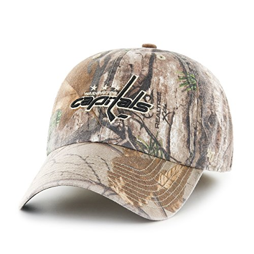 Washington Capitals Snap (NHL Washington Capitals Realtree Franchise Fitted Hat, Large, Realtree Camo)