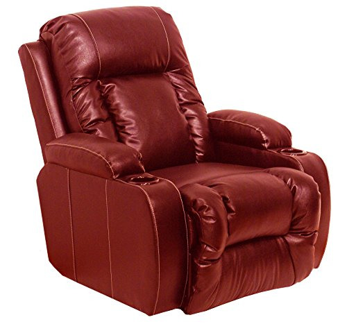 Catnapper 44274120314 Top Gun Red Leather Recliner