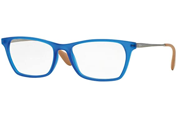 524a3b8f89 Amazon.com  Ray Ban RX7053 Eyeglasses 52-17-140 Rubber Blue 5524 ...