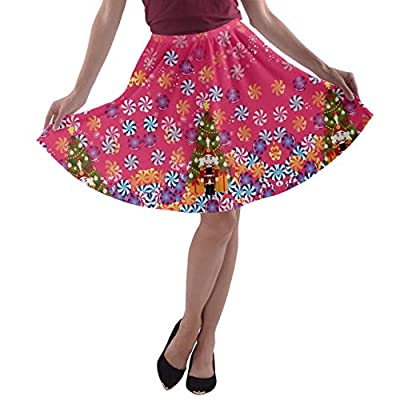 CowCow Women's Party Skirts Nutcracker Candy Swirls A-line Skater Skirt