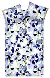 Bluebellgray Skye cama, 100 % algodón, azul, 155x220 / 80x80