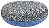 BESSIE AND BARNIE 36-Inch Bagel Bed for Pets, Medium, Blue Sky/Versailles Blue