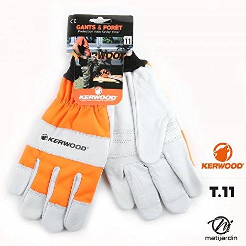 Manchettes protection tronçonneuse avec gants Kerwood. T 11 - Pièce neuve   Amazon.fr  Bricolage 74d4a0e91bd