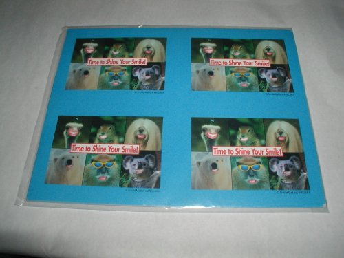 SMILEMAKERS ASSORTED ANIMALS LASER RECALL CARDS for use by DENTISTS TO SEND TO CLIENTS REMINDING THEM OF A NEED FOR AN APPOINTMENT. FOR CHILDREN.