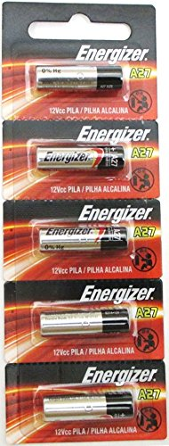 (5) 27A A27 G27A B-1 L828 CA22 GP27A Energizer Battery 12V