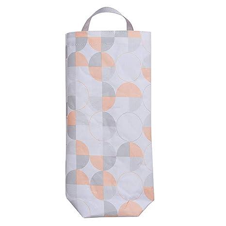JINM Bolsa de plástico para bolsas de basura, soporte de pared, dispensador de bolsas