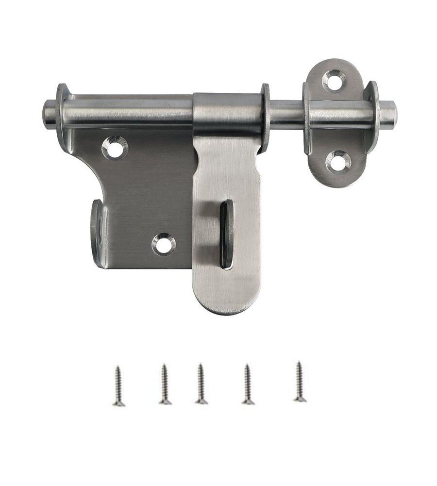 Jsentai Stainless Steel Slide Bolt Lock Door Security Latch Padlock Hasp Barrel Bolt 6'' Overall Length