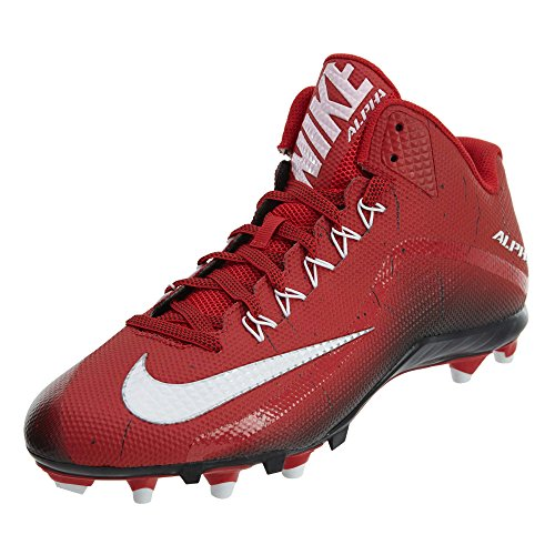 Nike Mens Alpha Pro 2 Football Cleat Game Red/White/Black
