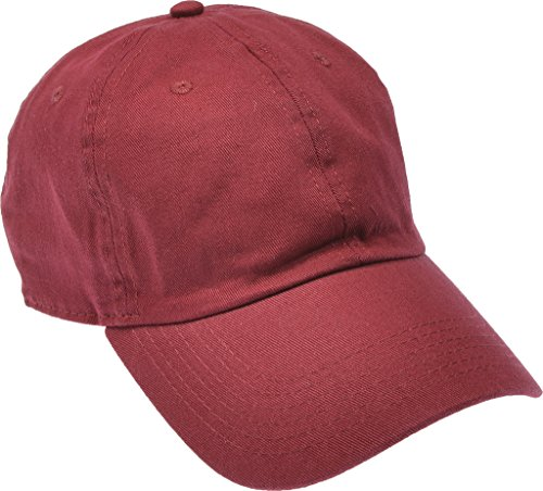 Hand By Hand Aprileo Solid Cotton Cap Washed Hat Polo Camo Baseball Ball Cap [07 Dark Red](One Size)