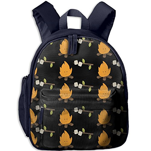 Camper BBQ Fire Boys Casual Lightweight Canvas Backpacks School Rucksack Travel Backpack.