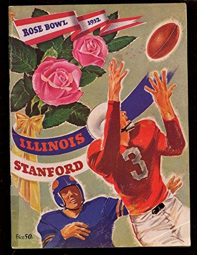 - 1952 NCAA Football Rose Bowl Program Illinois vs Stanford Ex