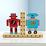 HEYFAIR Cute Cartoon Robots Kids Room Bookends Home