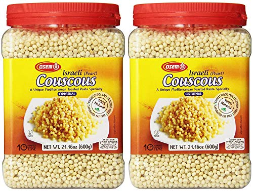 Osem Israeli Couscous Canister, 21 Ounces (Pack of 2, Total of 42 oz)