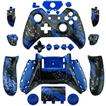 WPS Xbox One Shell & Button Kit for Wireless Controller Hydro Dipped Blue Splatter with T6 & T8 Screw and Screwer