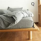 1500TC Ultra Soft Sheet Set (Flat Sheet & Fitted Sheet & 2 Pillowcases) Pre-Washed Cotton,Ramie Rich,Free Combination According to Your Favorite Color