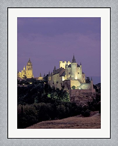 Alcazar, Segovia, Spain by David Barnes / Danita Delimont Framed Art Print Wall Picture, Flat Silver Frame, 29 x 36 inches by Great Art Now