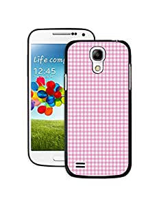 Red and White Grid Pattern Samsung Galaxy S4 min Case