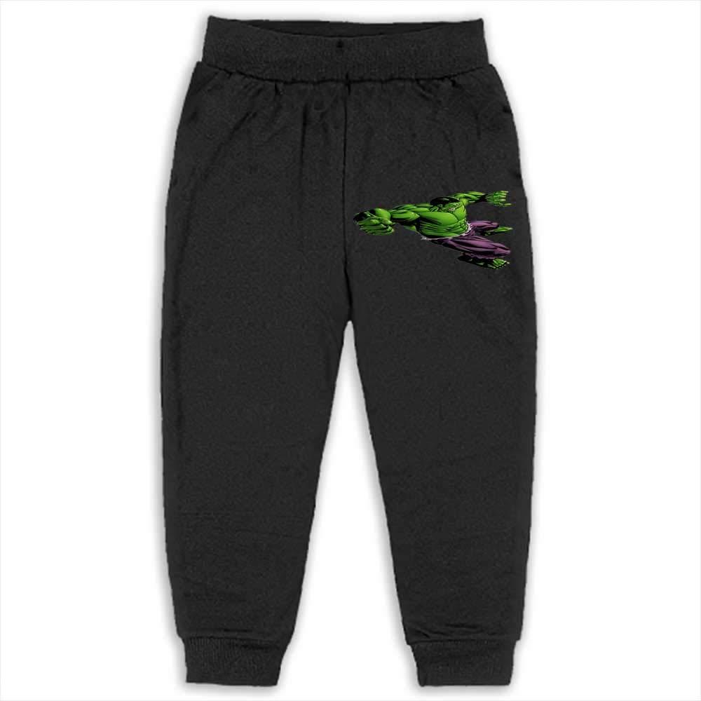 Awmerny Cotton Boys Long Trousers Baby Toddler Girls Cute Sweatpants Hulk 2T_Black