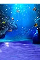 5x7ft Blue Sea Ocean The Underwater World Photographer's Digital Studio Vinyl Floor Photography Backdrops Background