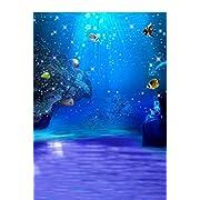 5x7ft Blue Sea Ocean The Underwater World Photographer's Digital Studio Vinyl Floor Photography Backdrops Background
