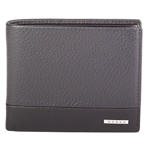 Cross Men's 100% Genuine Leather Bifold Coin Wallet – Coffee