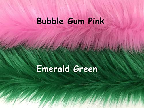 CHOOSE COLOR and SIZE! Bundle of 2 pieces of Faux Fur Fabric - Square, Rectangle, Sample, For Craft Fursuit Fursona Furry Fabric Fake Fur - More than 35 colors to pick from! from Bianna Creations
