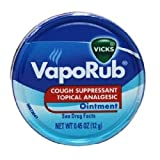 Vicks Vaporub Ointment Cream Cough Suppressant and Topical Analgesic of 0.45 Oz JAR - 12 Packs