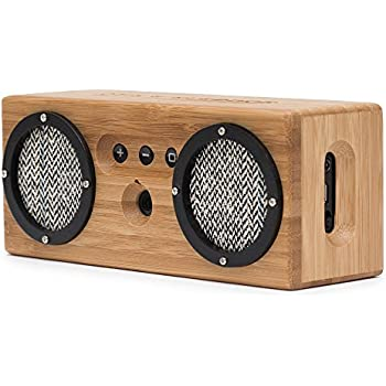 Otis & Eleanor Bongo Bamboo Bluetooth Speaker - Portable & Wireless Retro  Wood Design - Vintage Black & White
