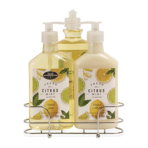 Tri Coastal Design Three Piece Kitchen Caddy - Citrus Mint - Lotion Caddy Set