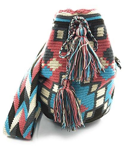 Wayuu Mochila, Bolsos Colombianos Artesanales con motivos tribales, tanto para mujer como para hombre. Antado