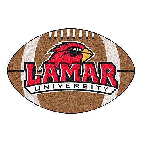 (NCAA Lamar University Cardinals Football Shaped Mat Area Rug)