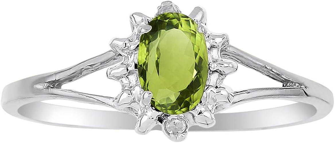 925 Sterling Silver 1.4 Ct Peridot Half Eternity Band Ring