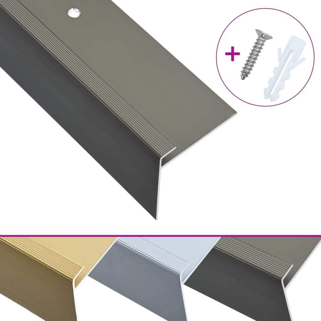 11,09-13,03€//m •Treppenkantenprofil •Treppenprofil •4 Farben 5x24mm •270cm