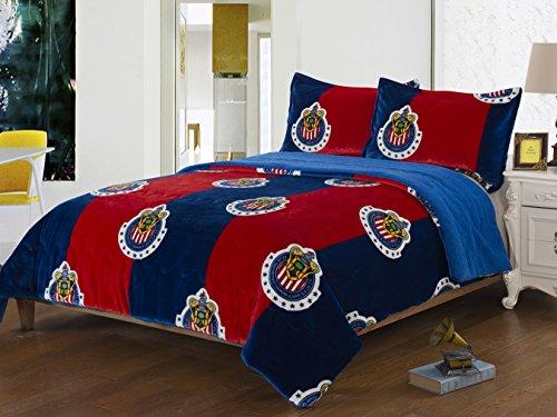 chivas-de-guadalajara-2pcs-sherpa-set-twin-size-blanket-set-with-1-pillow-shams