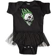 inktastic - Retro Skull Infant Tutu Bodysuit 12 Months Black - Gus Fink Studios