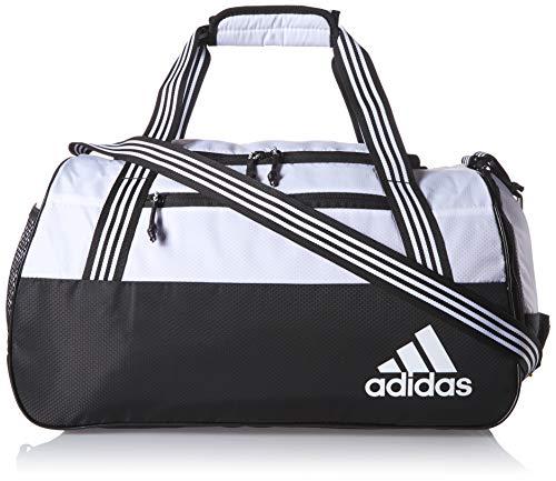 adidas Women's Squad Duffel Bag, White/Black, ONE SIZE (Adidas Women Duffle Bag)