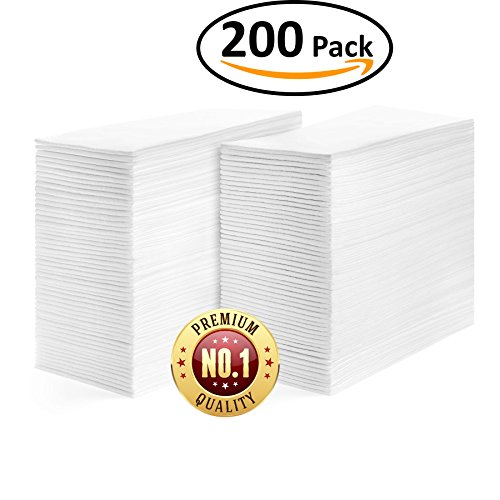 Linen Feel Guest Towels Disposable Cloth Like Paper Hand Napkins Soft, Absorbent, Paper Hand Towels for Kitchen, Bathroom, Parties, Weddings, Dinners or Events, White Guest Towel 200 Pack
