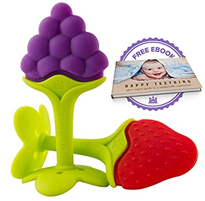 Luxury Teething Toys for the Best Baby Teether Massage by Nurtureland. Soothe Molar Teeth with Advanced Soft Natural BPA Free Tree Teethers Gift Set. Make Your Happy Baby Smile Now! by Nurtureland that we recomend individually.