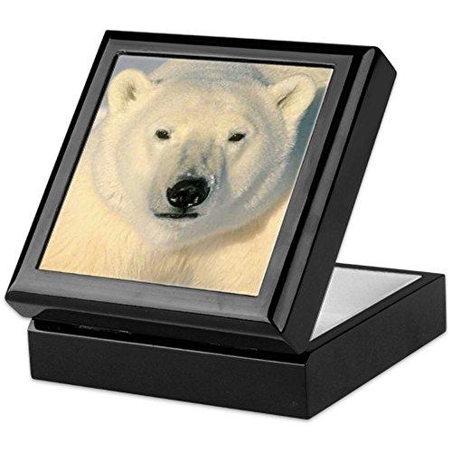 (CafePress - Polar Bear - Keepsake Box, Finished Hardwood Jewelry Box, Velvet Lined Memento)