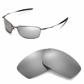 58f7581c9db Walleva Replacement Lenses for Oakley Square Whisker Sunglasses - Multiple  Options (Titanium Mirror Coated - Polarized)  Amazon.ca  Sports   Outdoors