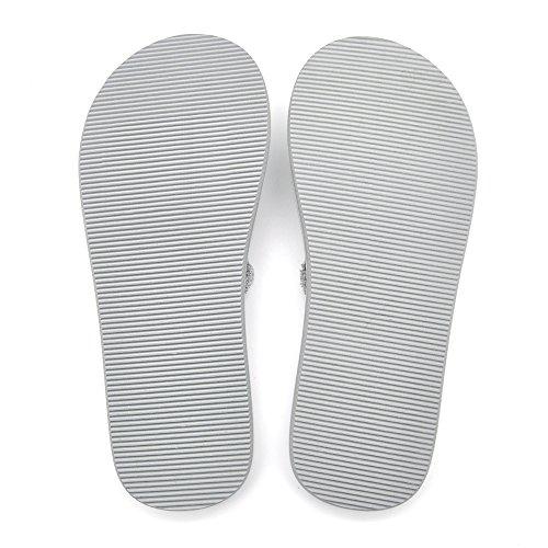 Men's Flip Flops Beach Sandals Lightweight EVA Sole Comfort Thongs(12,Grey) by DWG (Image #6)